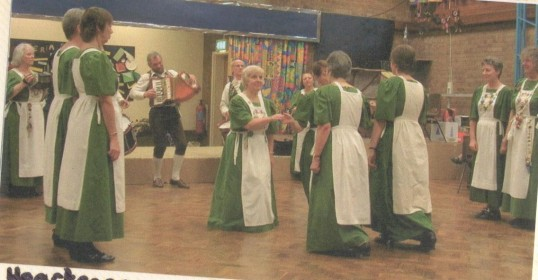 Heartsease dancers performing