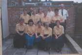St Neots Handbell Ringers at 1 Park Road, St Neots, in 1995.