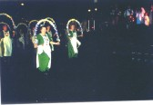 """Heartsease dancing """"Turn of the Century"""", performed for the first time at the Millennium Celebrations on St Neots Market Square, 1999/2000"""