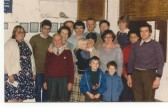St Neots, St Marys Church Bellringers after the bells were augmented from 8 to 10 bells, in 1984