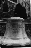 St Neots Parish Church Tenor bell outside the church prior to installation in the tower, in 1919