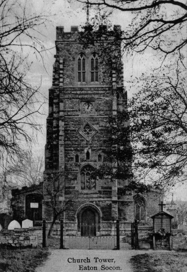 Eaton Socon - St Mary's Church before the fire in 1930