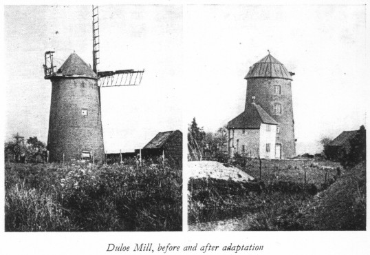 Duloe Windmill, Eaton Ford in 1948