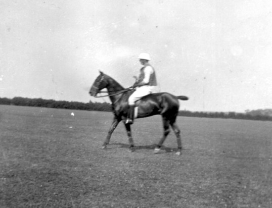 Alfred Jordan playing Polo, around 1905, for St Neots Polo Club, based in Eaton Socon