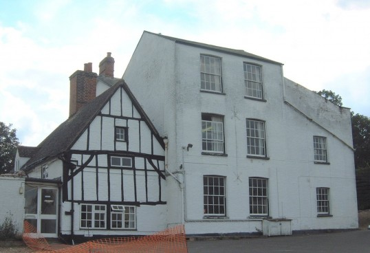 19th century Eaton Socon Academy, Glove Factory 1940's -1970's, Peppercorns Lane, Eaton Socon (photo 2002)