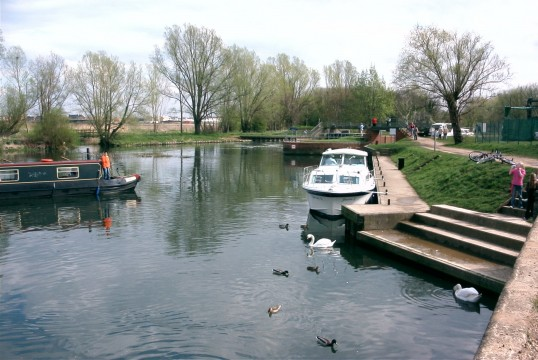 River Great Ouse at Eaton Socon in 2005