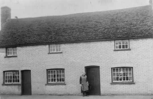 Formerly Richard Walls Butchers shop on the Great North Rd, Eaton Socon, demolished in the early 1930's
