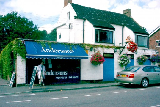 Andersons Butchers Shop, 163 Great North Rd, Eaton Socon with Justin Anderson outside
