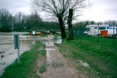 Flooding of the River Great Ouse near Eaton Socon Lock, River Great Ouse, in 2003