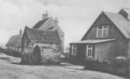 The Cage and The Institute in School Lane, Eaton Socon, around 1920