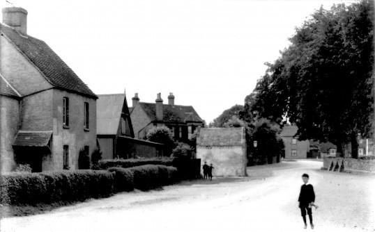 School Lane, Eaton Socon looking towards the Village Green, about 1920