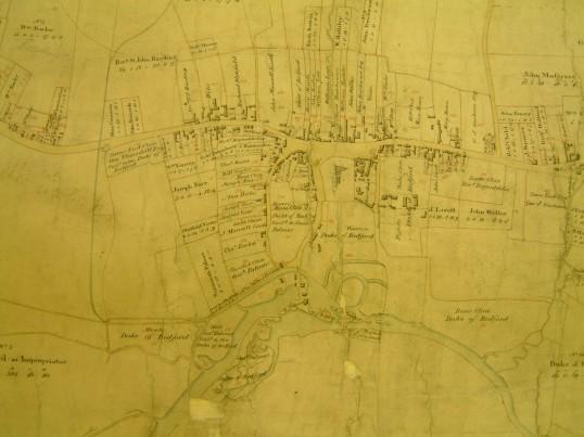 Draft 1790's Enclosure Map of  Eaton Socon village