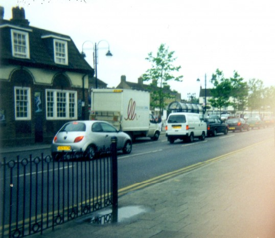 Golden Ball Public House in Market Square, St Neots from Barretts Corner in 2000