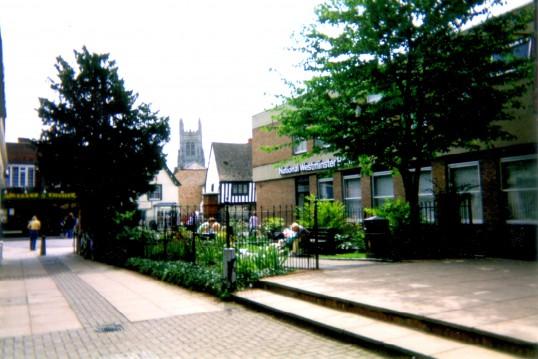 United Reformed Church garden in St Neots around 2002