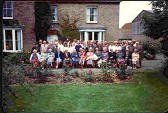 Golden Wedding of Harry and Olive Wilkes at Loves Farm, St Neots, in the summer of 1982