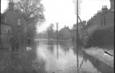 St Neots Rd flooded in Eaton Ford in 1947