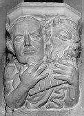 Eaton Socon Church - one of the corbels put inside the church after the fire of 1930