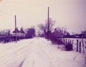 Toseland village covered in snow in 1979
