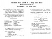 Eaton Socon Church - Rededication service in June 1932 , after the 1930 fire
