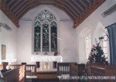Little Paxton Church, St James - view of the altar and east window in 2006