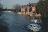 View of the River Great Ouse and the Priory Centre from the town bridge, in 2007