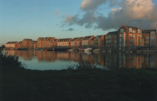 New waterside houses in Eynesbury, in 2007