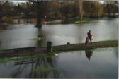 A walk in a flooded Riverside Park in 2006