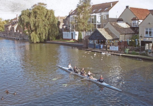 St Neots Rowing Club rowing on the River Great Ouse, in 2007
