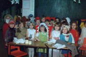 Children dressed up for a Xmas production at Bushmead Infants, Eaton Socon, about 1993