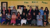 Staff at Bushmead Infants School in Bushmead Road in 1992, Eaton Socon
