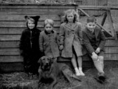 Children at Wyboston Land Settlement 1951