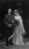 Wedding of Kenneth Scales and Joyce Eileen Folwell at St Marys, Eaton Socon in 1943