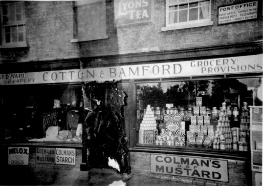 Cotton and Bamford Shop, Eaton Socon Village Green in 1933