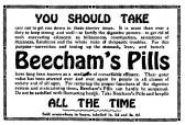 Beechams Pills advert in St Neots Advertiser, May 1916