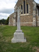 Little Barford War memorial in June 2008