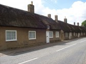 Thatched cottages in Little Barford, in June 2008