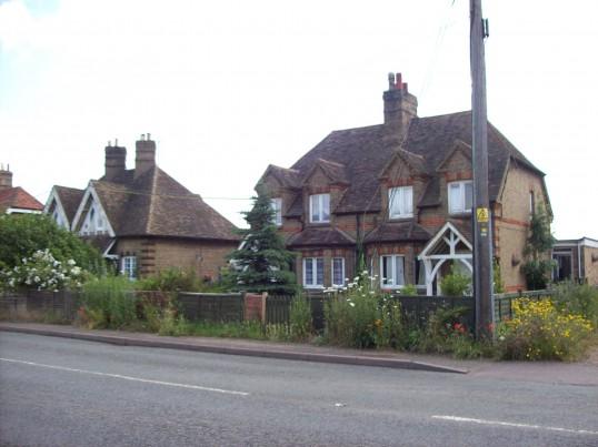 Cottages at Little Barford in June 2008