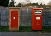 Post Boxes at Little End Rd, Eaton Socon in 1997