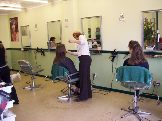 The Gentle Touch Hairdressers, Great North Rd, Eaton Socon inside the shop in September 2007
