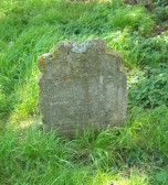 Eaton Socon - Thomas Haris (sic) 1673, the oldest gravestone in the Churchyard