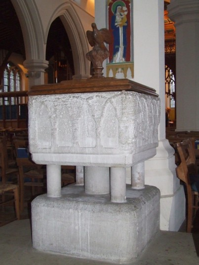 Eaton Socon Church - a Norman font