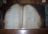 Eaton Socon Church - burnt bible retrieved after the 1930 fire