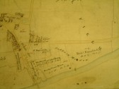 Draft 1790's Eaton Socon Parish Enclosure Map showing the River Great Ouse, St Neots Rd and Cross Hall Rd