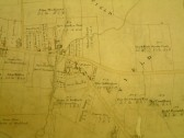 Draft 1790's Eaton Socon Parish Enclosure Award showing the area near the present Health Centre