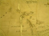 Draft 1790's Eaton Socon Parish Enclosure Award map showing the area around Eaton Ford Green