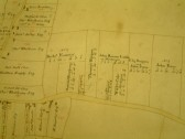 Draft 1790's Eaton Socon Parish Enclosure Award map showing part of Wyboston