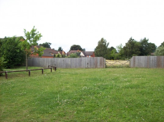 Site of new Eatons Community Centre at The Maltings, Eaton Ford in August 2008