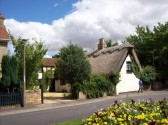 Alma Cottage, a thatched cottage in Howitts Lane, Eynesbury, in August 2008