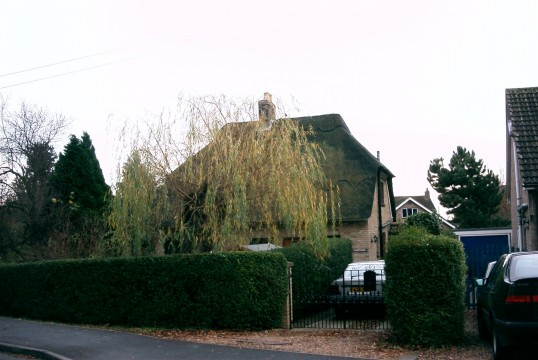 Thatched cottage in School Lane, Eaton Socon, built for a thatcher in the early 1950's