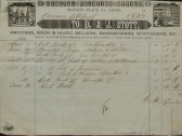 Bill for printing from D & J Stott Printers etc, Market Place, St Neots, to The Overseers of St Neots, dated 1839